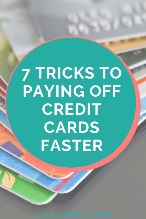 7 tricks to paying off credit cards faster