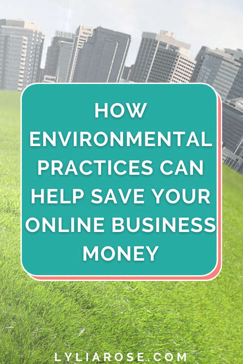How environmental practices can help save your online business money