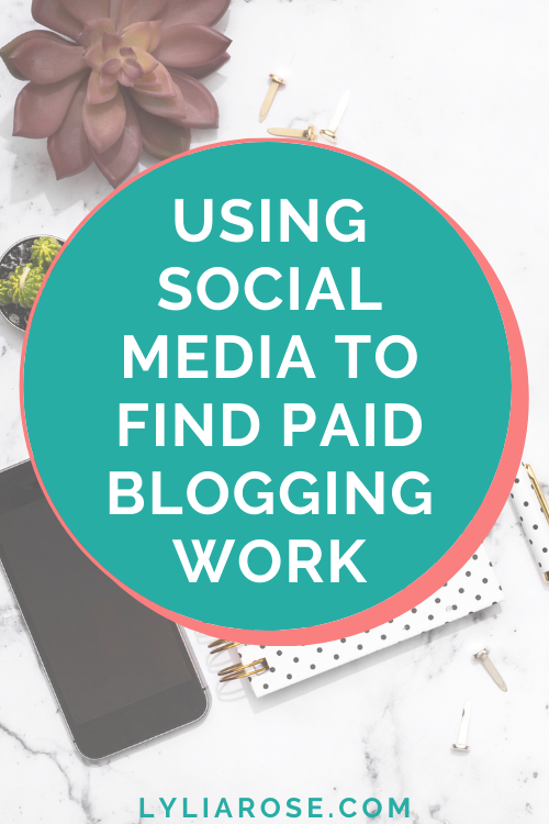Using social media to find paid blogging work