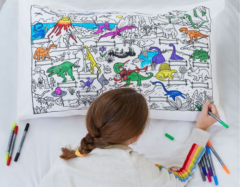 doodle pillowcase dinosaurs gifts toys