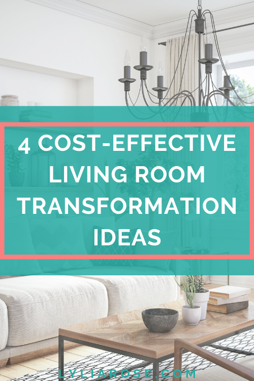 4 cost-effective living room transformation ideas