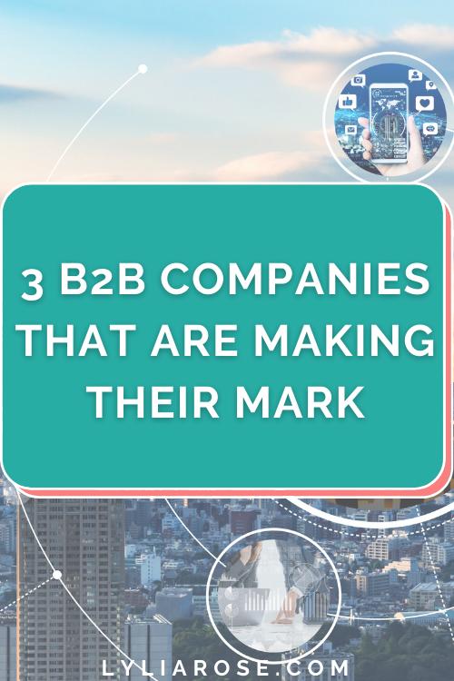 3 B2B companies that are making their mark