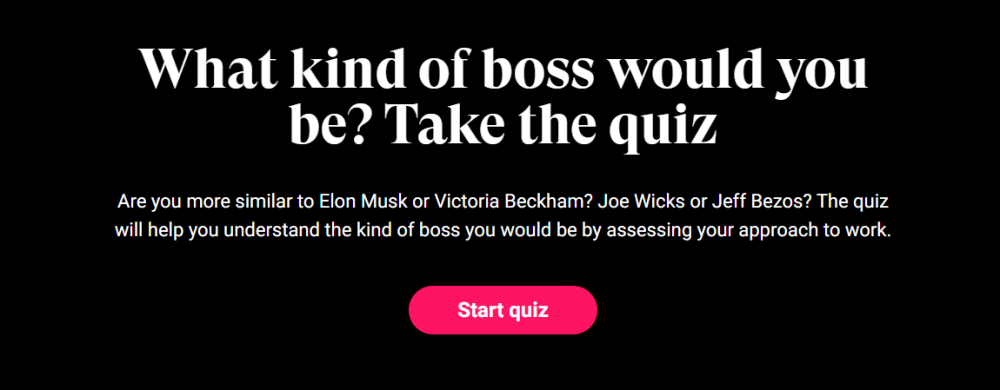 what kind of boss would you be quiz