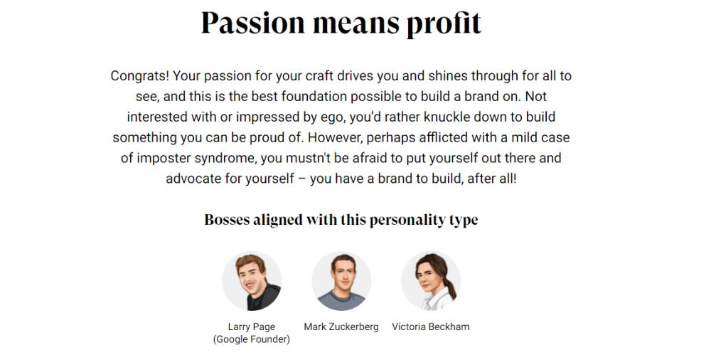 passion means profit