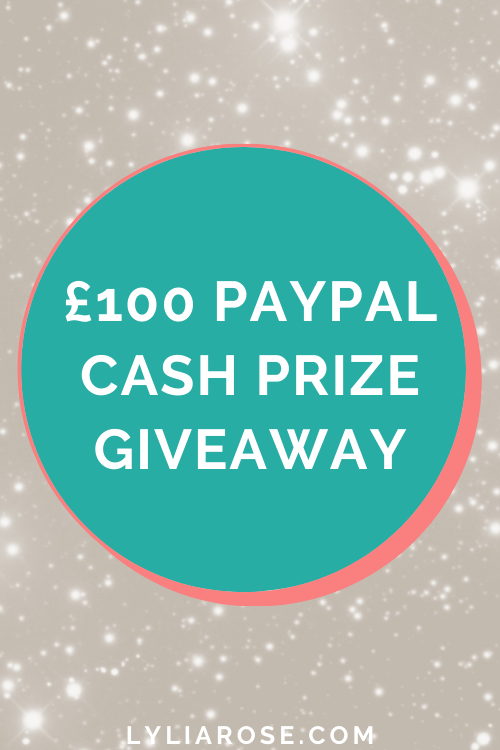 £100 PayPal cash prize giveaway August 2021
