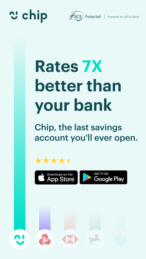 £10 free cash with Chip promo code LYLIA08