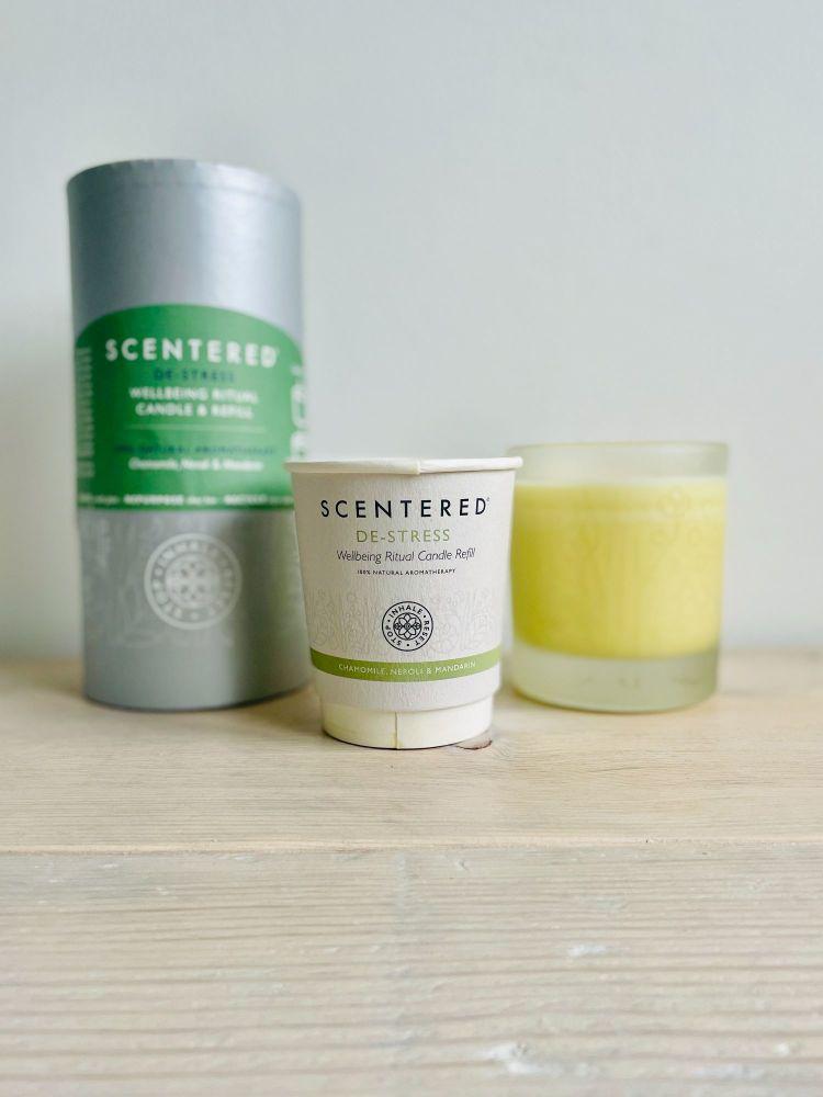 Scentered Candles Review Vegan Refillable De Stress
