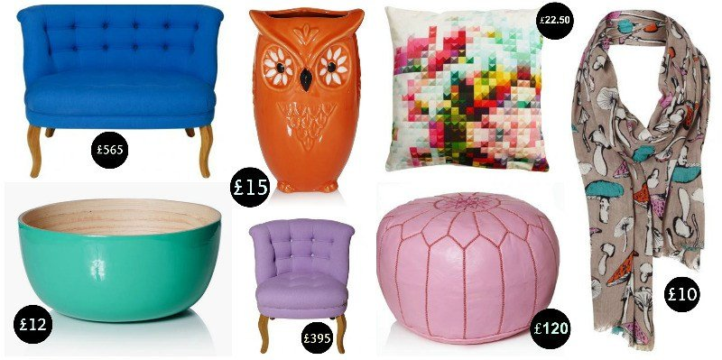 Hello Oliver Bonas: A colourful home decor wishlist