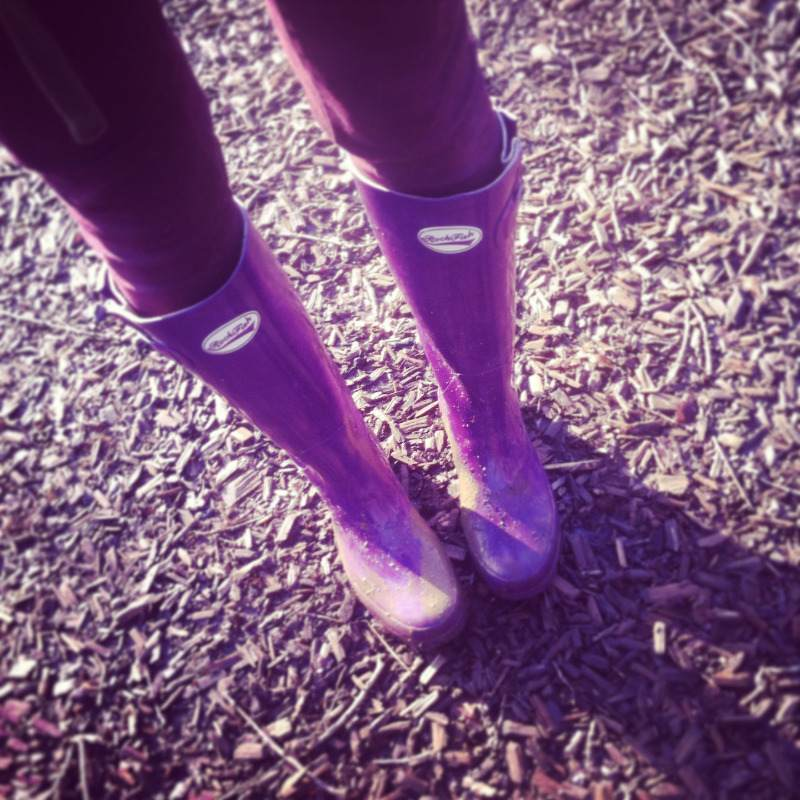 Purple Gloss Rockfish Wellington Boots Review