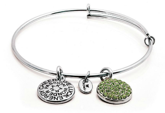 chrysalis good fortune august peridot bangle