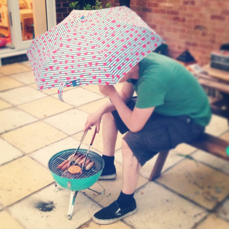 rainy bbq mint tesco bbq heart primark umbrella wet summer