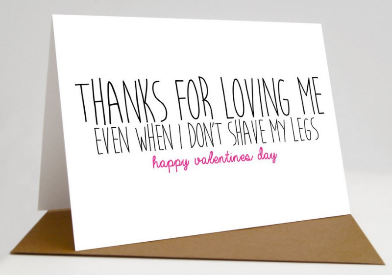 funny typography valentines card