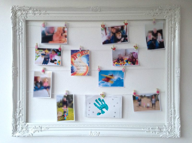 how to display childrens pictures in an ornate frame lylia rose craft diy b