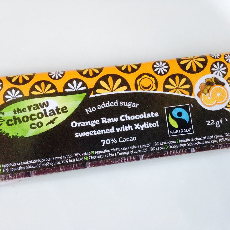 the raw chocolate company raw orange chocolate with xylitol