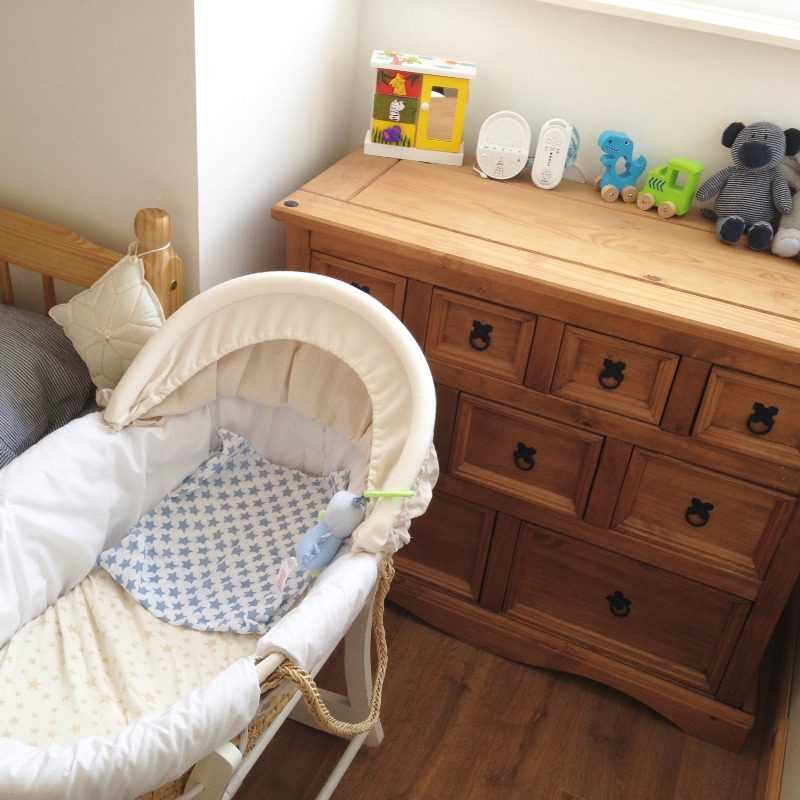 Nursery Furniture Bassinets & Cradles Painstaking Moses Basket In Vimini Con Stand