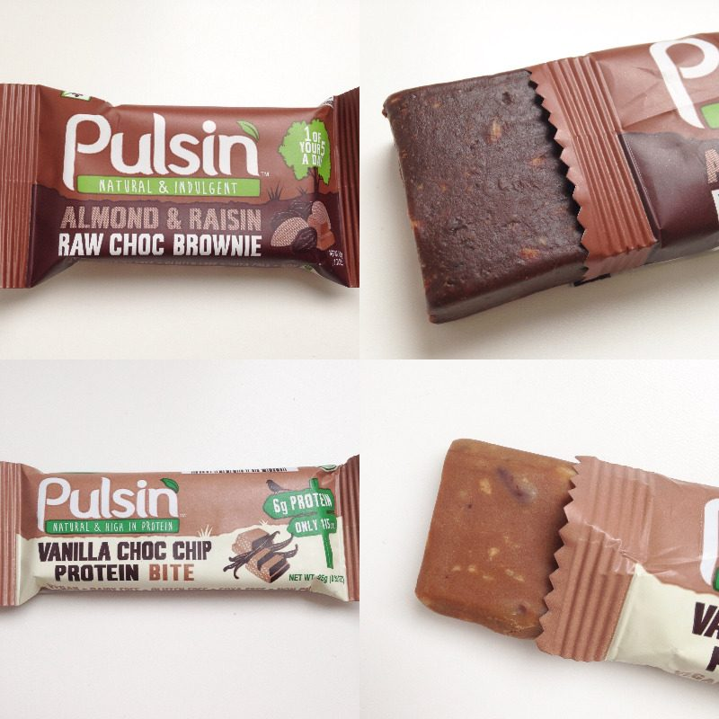 pulsin raw chocolate brownie almond raisin blog review lylia rose protein v