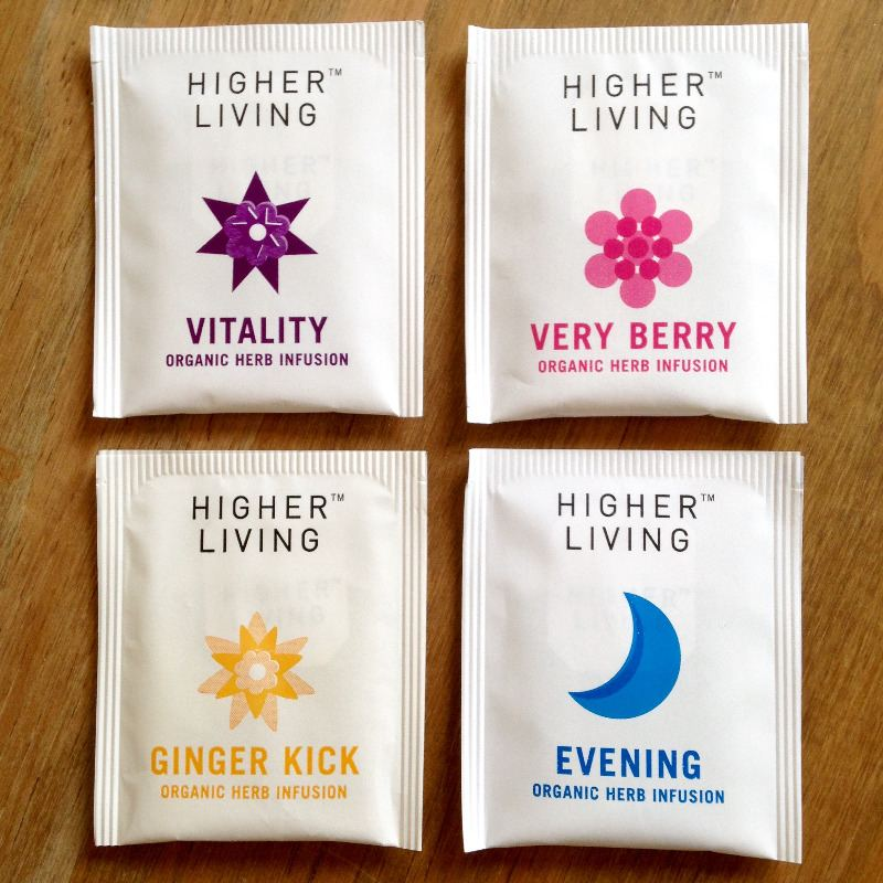higher living fab four herbal tea box gift lylia rose blog post blogger lif