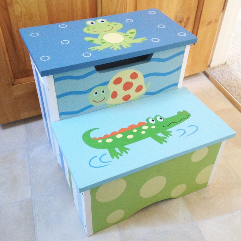 childrens toilet kitchen double steps painted animals homesense - lylia ros