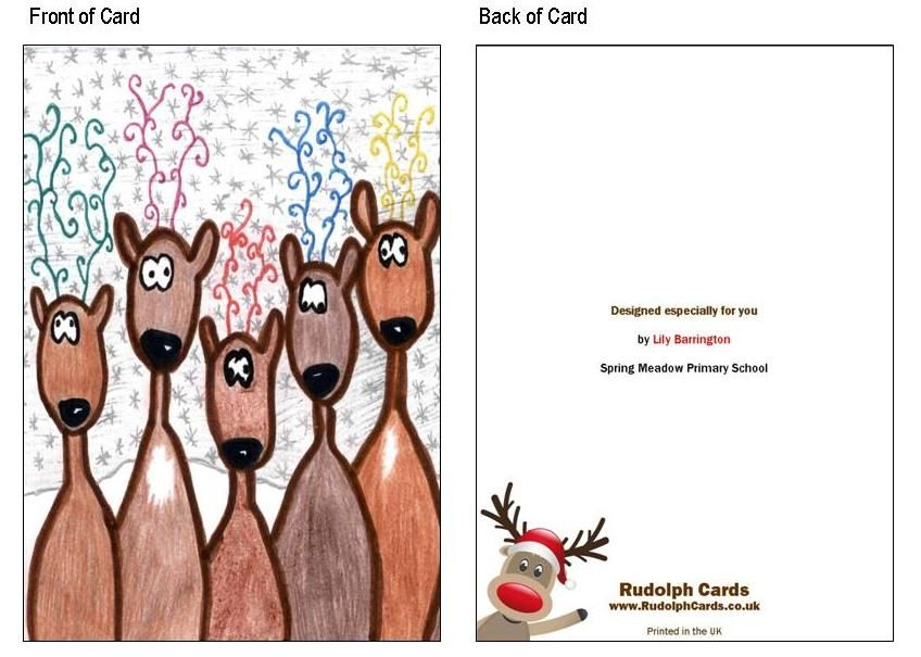 Christmas Card Front and Back