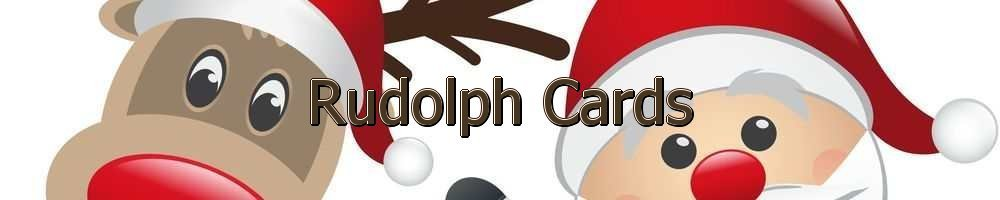 Rudolph Cards, site logo.