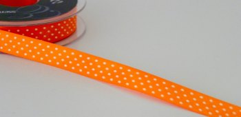 15mm Micro Dot Ribbon - Orange