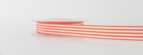 16mm Pencil Stripe Ribbon - Orange