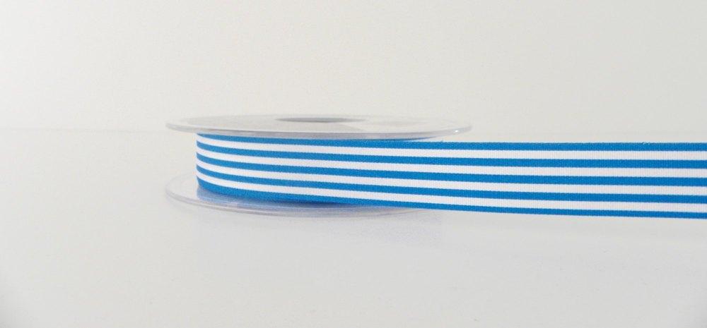 16mm Pencil Stripe Ribbon - Peacock Blue