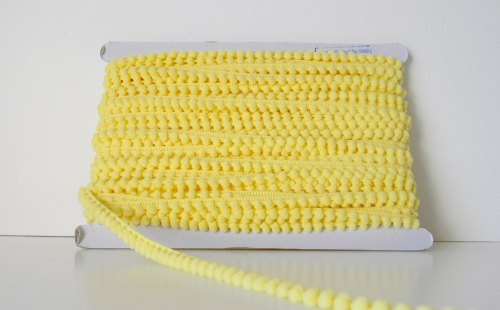 9mm Baby Pom Pom Trim - Pale Yellow