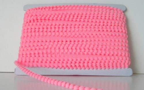 9mm Baby Pom Pom Trim - Hot Pink