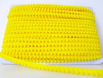 Mini Pom Pom Trim - Yellow