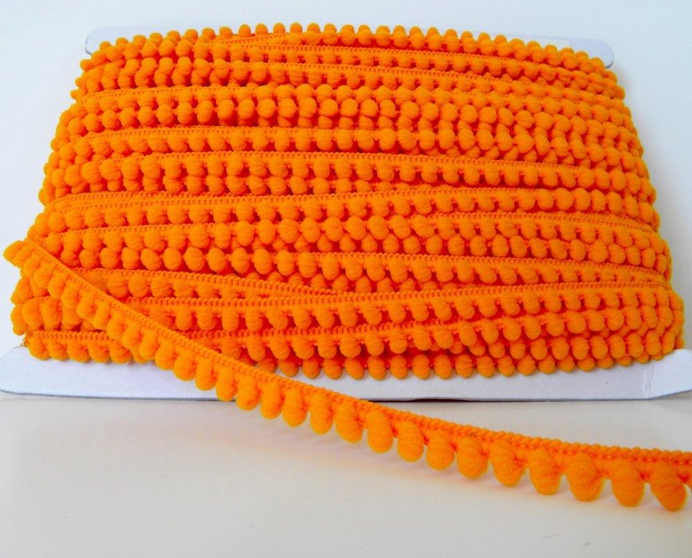9mm Baby Pom Pom Trim - Orange