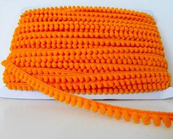 Mini Pom Pom Trim - Orange