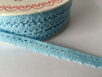 Scalloped Edge Lace Trim 10mm - Baby Blue