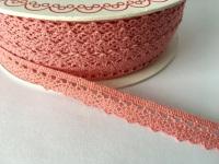 Scalloped Edge Lace Trim 10mm - Blush Pink