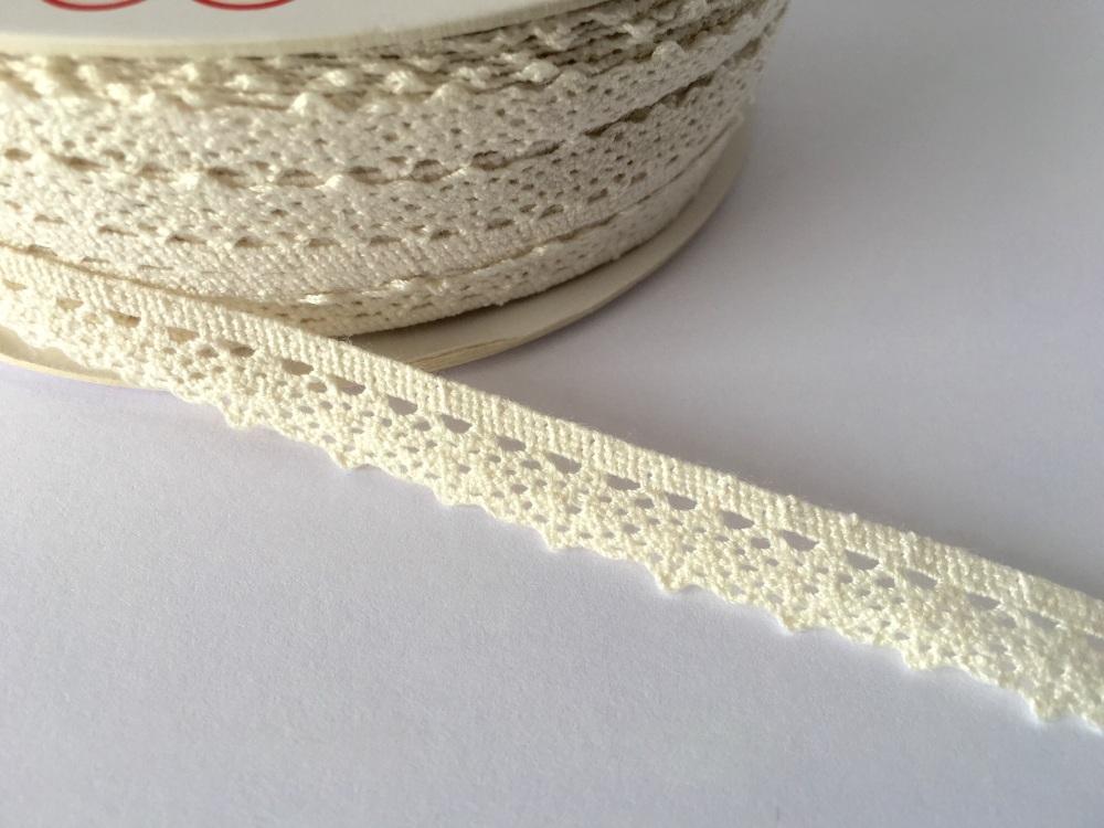 Scalloped Edge Lace Trim 10mm - Ivory