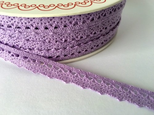 Scalloped Edge Lace Trim 10mm - Lilac
