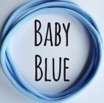 Baby Blue Dainties Nylon Headbands