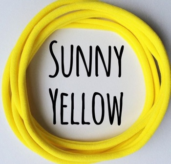 Sunny Yellow Dainties Nylon Headbands