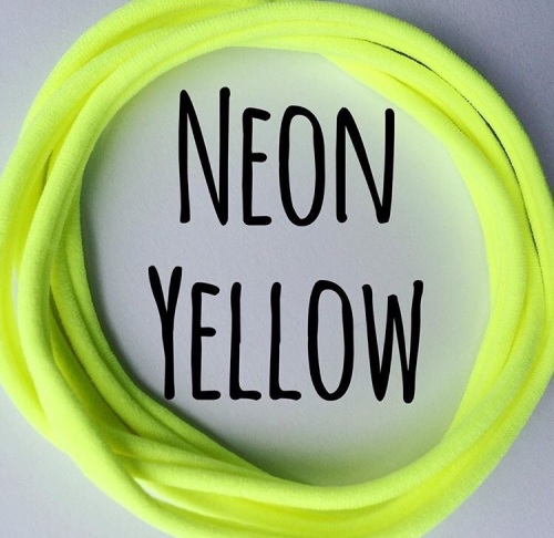 5 x Sunny Yellow Dainties Nylon Headbands