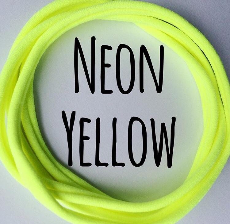 5 x Sunny Yellow Dainties Nylon Headbands