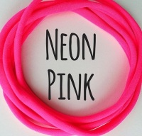 Neon Pink Dainties Nylon Headbands
