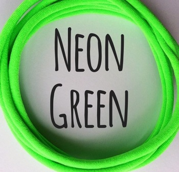 Neon Green Dainties Nylon Headbands