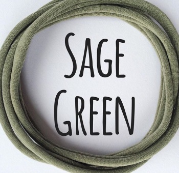 Sage Green Dainties Nylon Headbands