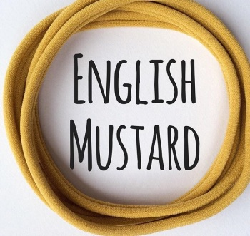 English Mustard Dainties Nylon Headbands