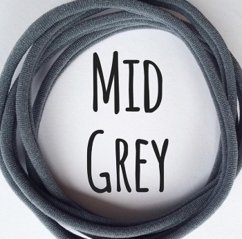 Mid Grey Dainties Nylon Headbands