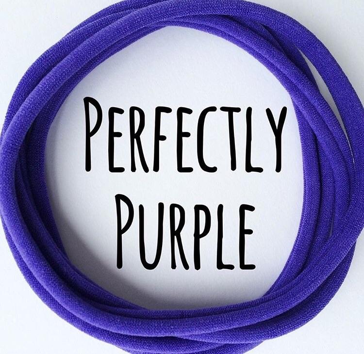 5 x Perfectly Purple Nylon Headbands