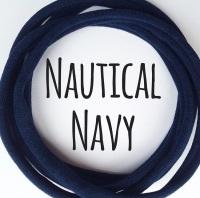 Nautical Navy Dainties Nylon Headbands