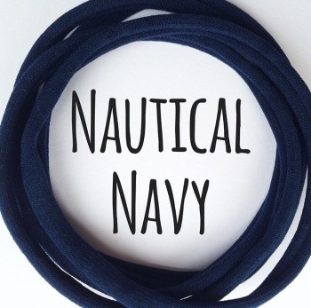 Nautical Navy Dainties Nylon Headbands