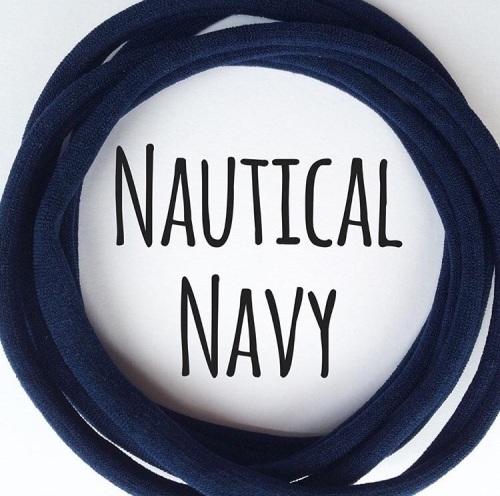 5 x Nautical Navy Nylon Headbands