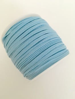 3mm Skinny Elastic - Light Blue